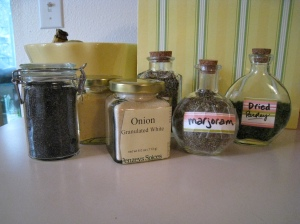 all the new spices in their jars